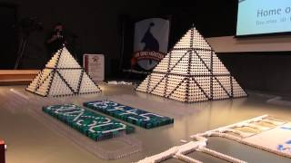 Guinness World Record Biggest 3D Domino Pyramid 30x30 18,447 Dominoes