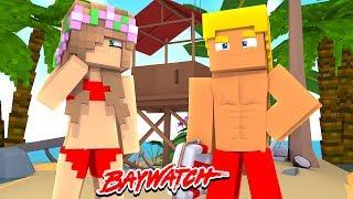 LITTLE KELLY HAS A CRUSH ON A LIFEGUARD?!   Minecraft Baywatch