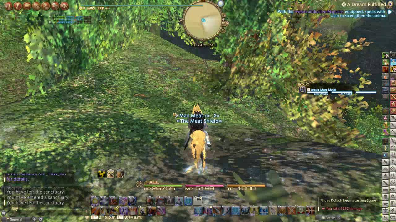 Going off the map in east shroud (ffxiv, final fantasy 14) OOB