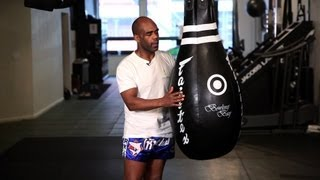 How to Use a Tear Drop Punching Bag | Muay Thai