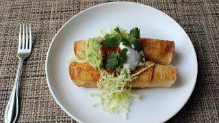 Turkey Flautas Recipe - How to Make Crispy Flautas - Thanksgiving Leftover Special!