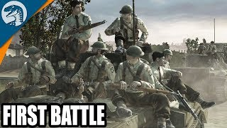 1944 Normandy Area Operation British Push to Caen | Company of Heroes: Opposing Fronts Gameplay