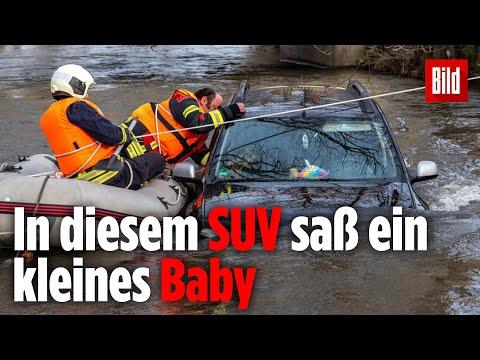 Vater versenkt SUV mit seiner Familie im Fluss