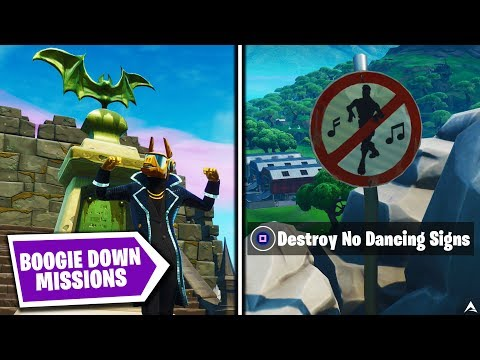 All BOOGIE DOWN MISSIONS And REWARDS On Fortnite Season X...