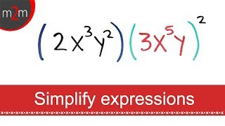 How to SIMPLIFY Expressions with EXPONENTS #1