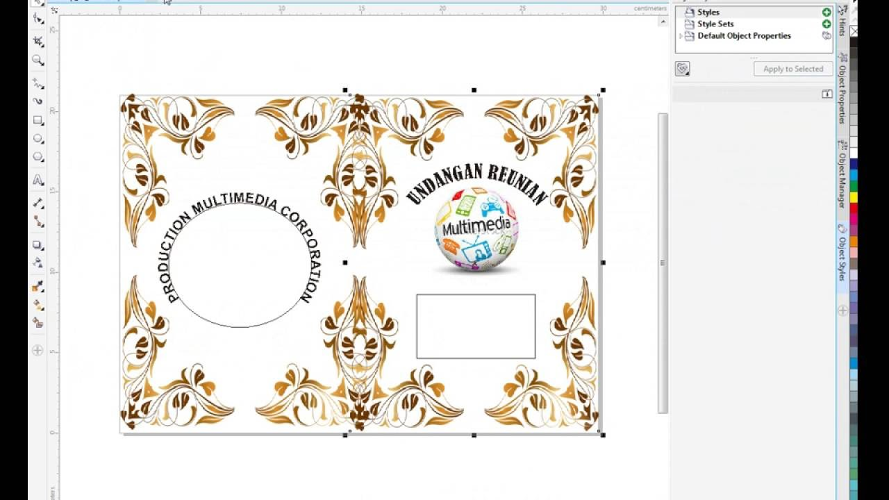 Cara Membuat Cover Undangan Depan Belakang Menggunakan Corel Draw