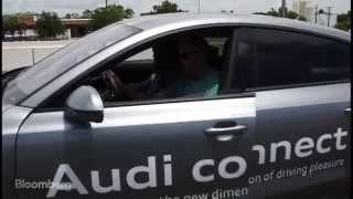 Text While Driving in Audi A7 Autonomous Sports Car