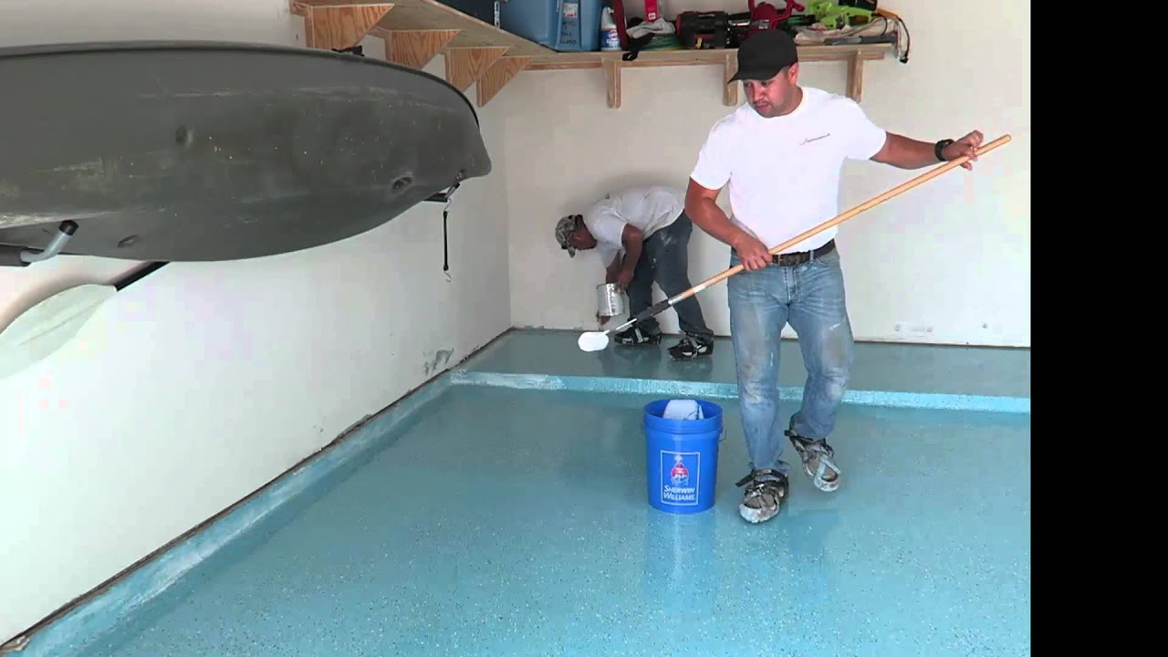 Spray Paint Concrete Floor