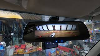 포터2 룸미러형 와이드 후방카메라를 영상과 같이 설치를…