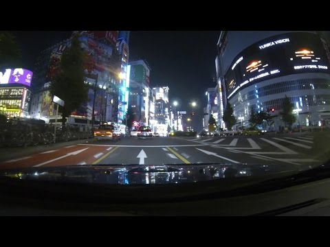 [HD] Night Drive in Tokyo City (Shinjuku, Shibuya, Roppongi)