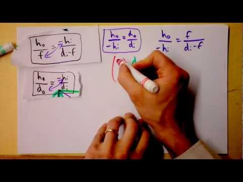 Geometric Derivation of the Thin Lens Equation for Optics | Doc Physics