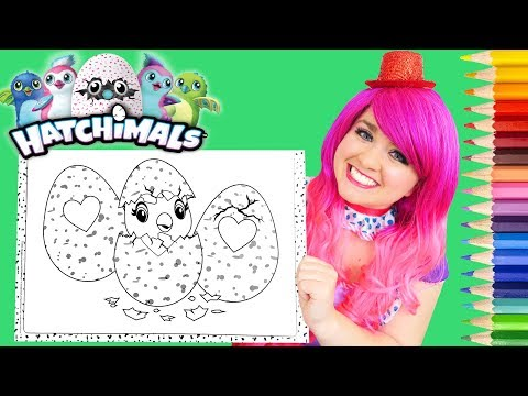 Coloring Hatchimals Eggs Coloring Book Page Prismacolor Colored Pencils | KiMMi THE CLOWN