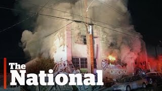 Warehouse party fire in California kills at least 9
