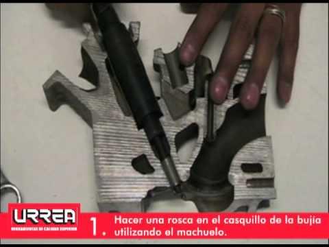Juego de extractores de bujias rotas.wmv URREA México