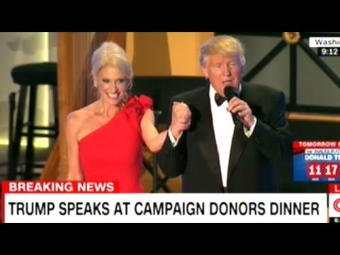 """""""THANK YOU BABY!"""" DONALD TRUMP TO KELLYANNE CONWAY AT INAUGURAL EVE DONORS DINNER"""