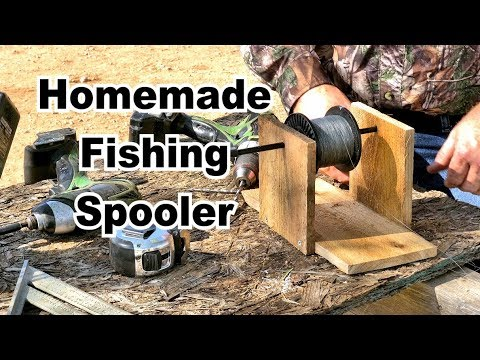How To Build A Homemade Fishing Line Spooler. Simple And Easy!