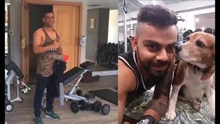 Download Virat Kohli & MS Dhoni GYM Workout Videos LEAKED