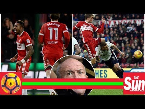 Middlesbrough 2 Bolton 0: New boss Tony Pulis watches from stands as Boro deal Trotters relegation