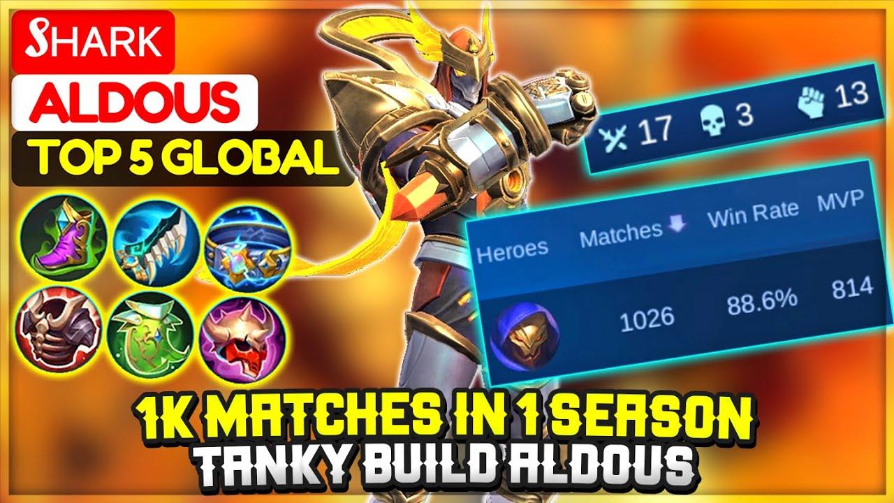1K Matches in 1 Season, Tanky Build Aldous [ Top 5 Global Aldous ] Sʜᴀʀᴋ - Mobile Legends