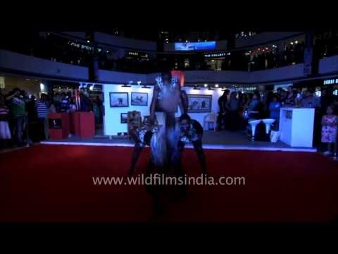 African Acrobats from Tanzania do their thing in India