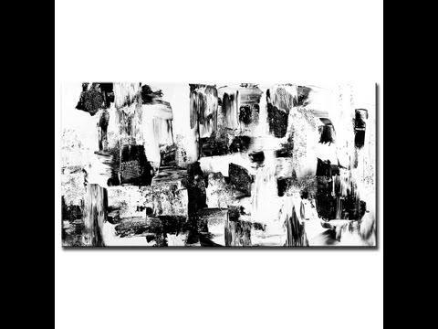 Painting black and white abstract painting - Cosmic