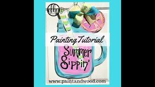 Lemonade Mason Jar Door Hanger Painting Tutorial
