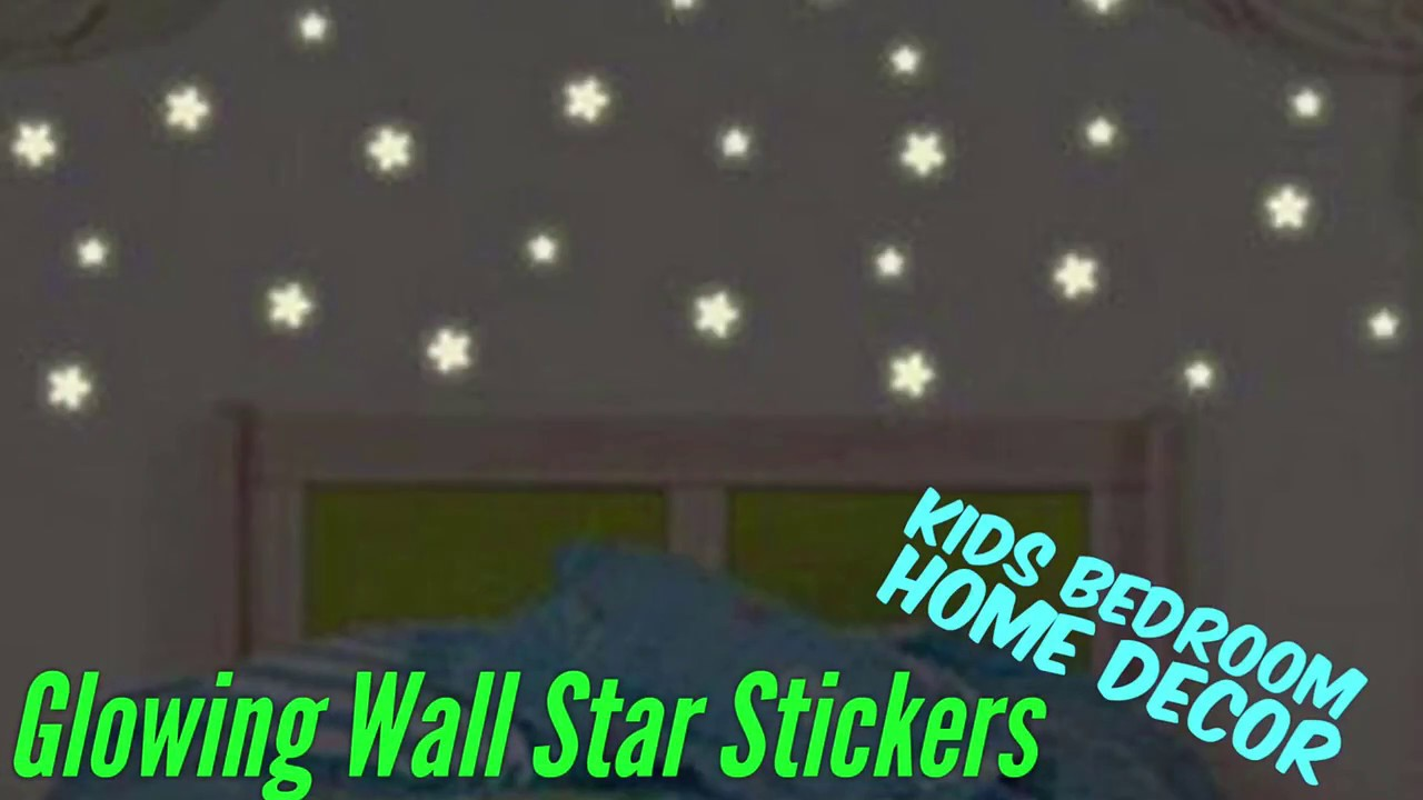 Glowing Star Stickers For Kids Bedroom Youtube