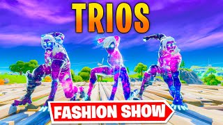 *TRIOS* Fortnite Fashion Show! FIRE Skin Competition! Best COMBO WINS!