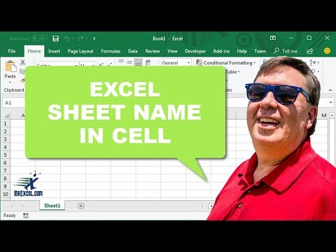 """Learn Excel 2010 - """"Worksheet Name in Cell"""": Podcast #1490 - YouTube"""
