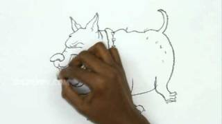 How to Draw a Fat Angry Dog