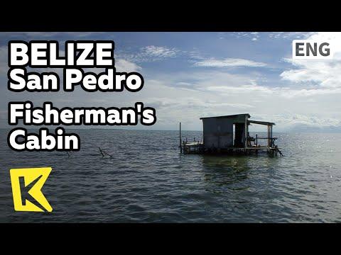 【K】Belize Travel-San Pedro[벨리즈 여행-산페드로]카리브 해에 떠 있는 어부의 오두막/Fisherman's Cabin/Caribbean Sea/Ocean