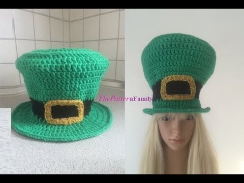How to Crochet a Leprechaun Hat Pattern  477│by ThePatternFamily ... 867b495fa79