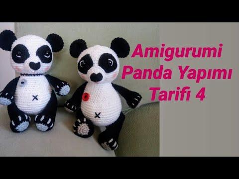 Amigurumi) Panda Ayı Yapımı 🐼 5.Bölüm - Amigurumi Ayı Kulak, Burun  Yapılışı ve Birleştirme 5/5 - YouTube | 360x480