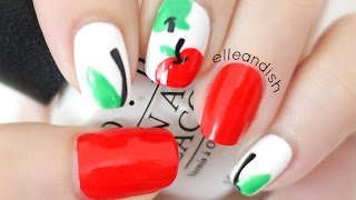 Back to School Apple Nails...and Apple Ipad APP?!