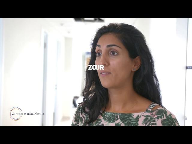 PROMÉ IMPRESHON: Zohreh Safipour,  ta kontentu ku e servisio di botikanan den CMC.