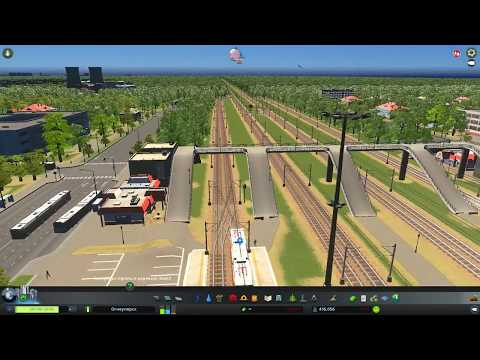 Cities Skylines railway jorney. The city Ogneuporsk, railway branch №1 Main ring