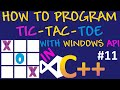 How to program Tic Tac Toe in C++/Visual Studio/Windows API #11 - Adding Images using Icons