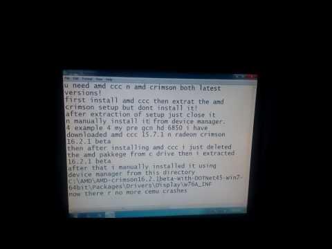 cemu crash fix for amd gpus - YouTube
