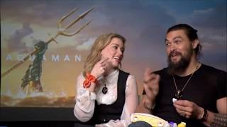 Amber Heard & Jason Momoa answer the Scrambled! Eggbox interview