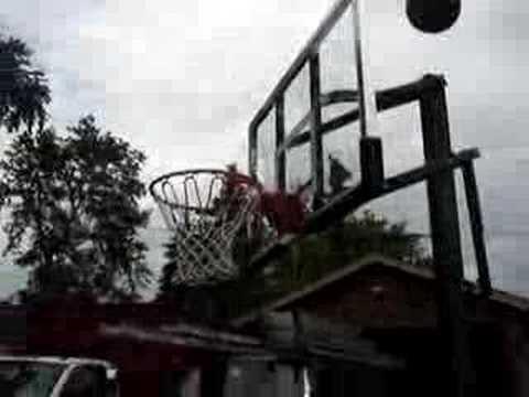 Behind the hoop swish
