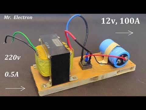 12V 100A DC from 220v AC for High Current DC Motor - Power Supply from UPS Transformer