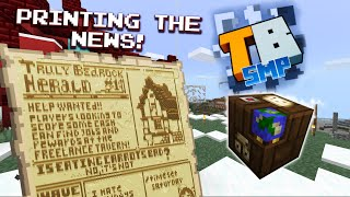 Map-powered Newspaper! - Truly Bedrock season1 #21 - Bedrock Edition Youtube Server