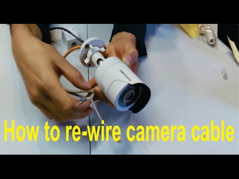 How to re-wire a broken Hikvision camera cable (RJ45)