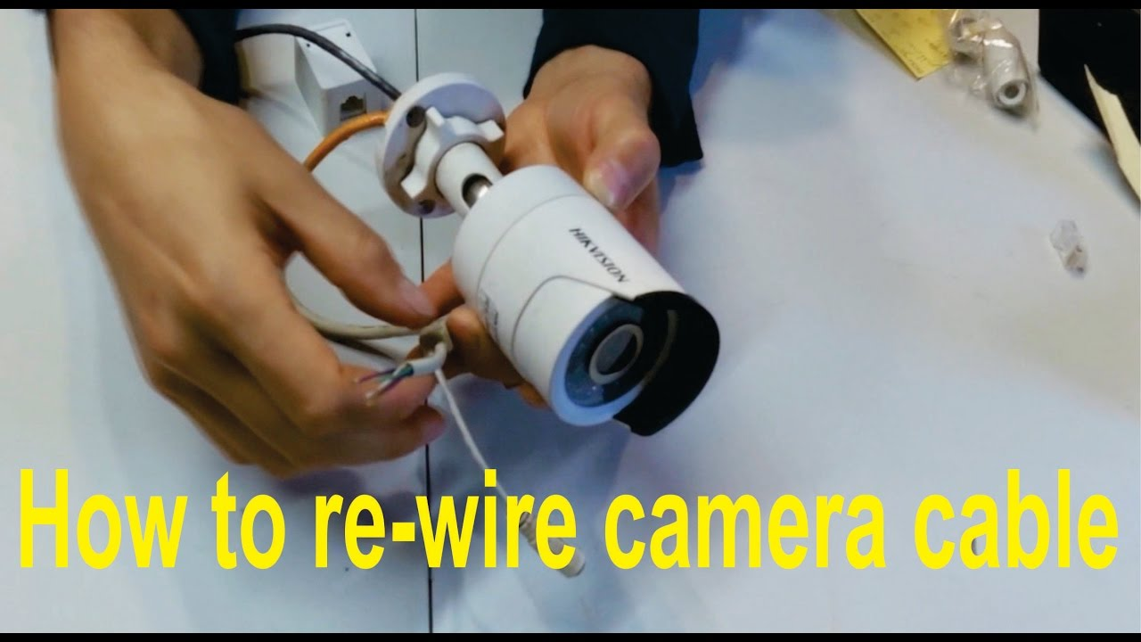 How To Re Wire A Broken Hikvision Camera Cable Rj45 Youtube Poe Ethernet Wiring Com Power Over Four Port Cat5 Premium
