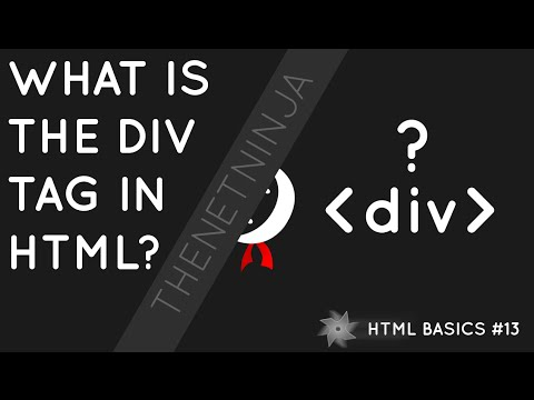 HTML Tutorial For Beginners 13 - The Div Tag