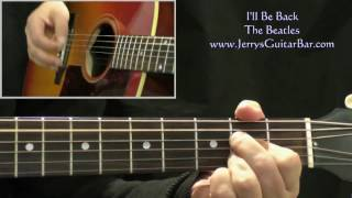 How To Play The Beatles I'll Be Back (intro only)