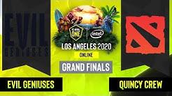 Dota2 -  Quincy Crew vs. Evil Geniuses - Game 1 - CN Grand Finals  - ESL One Los Angeles