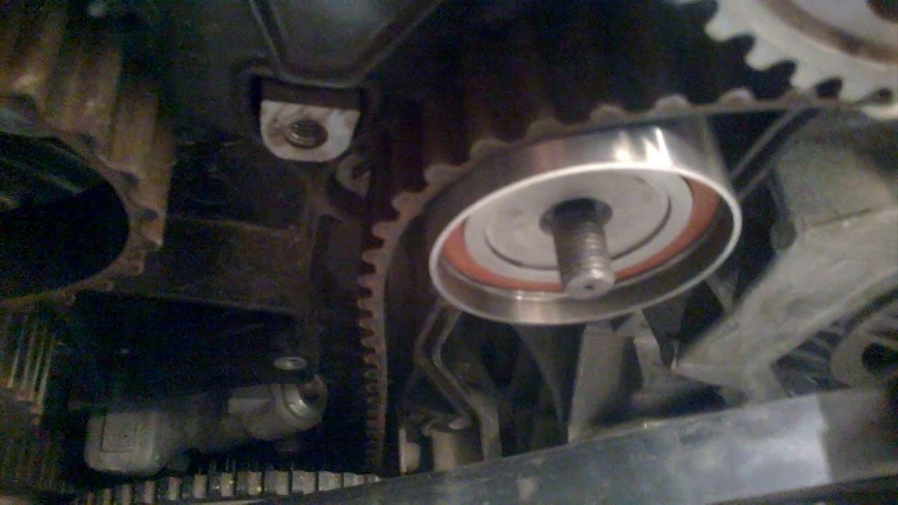 Мотор 21126 замена опорного ролика ГРМ на KOYO PU355816RR9D на шпильке