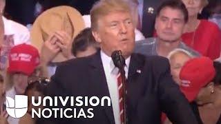 """""""Construiremos el muro"""": Trump insiste en su promesa desde la frontera con México"""