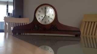 Large Oak Junghans Striking Art Deco Napoleon Hat Mantle Clock